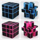 魔方 新品方格米羅碳纖維鏡面魔方 3階異形魔方 專業順滑比賽專用