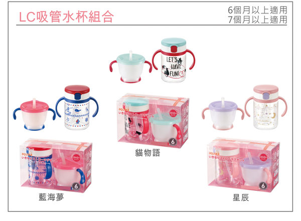 日本Richell 第三代吸管水杯組合