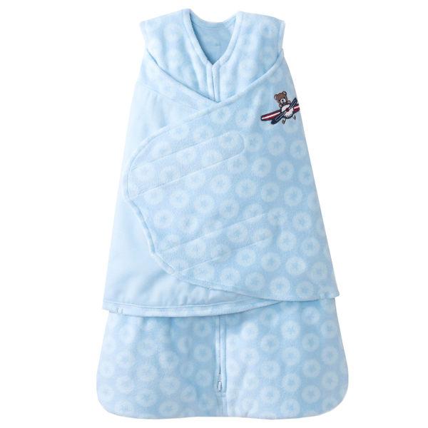 [寶媽咪親子館] 美國Halo Sleepsack 防踢包巾背心兩用 HA-10253 藍色飛行員刷毛款S號