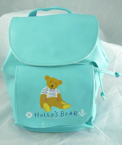 【震撼精品百貨】Holly's Bear 泰迪熊~防水後背包『藍綠』