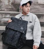 男生後背包   休閒男士雙肩包迷彩韓版學生書包時尚潮流旅行背包電腦包潮包   ciyo黛雅