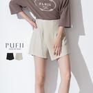 PUFII-褲裙 後鬆緊一片式棉麻短褲裙- 0709 現+預 夏【CP18784】