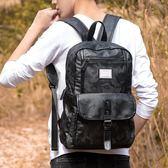 男雙肩包 後背包 迷彩時尚大容量戶外旅行學生書包潮韓版男包【五巷六號】wb2413
