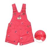 OSHKOSH 吊帶短褲 紅花朵 | 女寶寶吊帶褲裝(嬰幼兒/兒童/小孩)