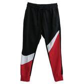 Nike AS M NSW HBR PANT FT STMT 男款大勾黑色拼接紅色休閒運動長褲-NO.AR3087657