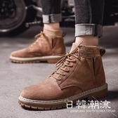 馬丁鞋  馬丁靴男英倫風高幫鞋男鞋冬季男士中幫雪地靴子保暖加絨棉鞋皮靴