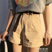 春夏女裝韓版高腰寬鬆顯瘦寬管褲短褲休閒褲外穿熱褲學生直筒褲潮 可可鞋櫃