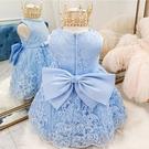 嬰兒公主裙女寶寶周歲禮服1抓周紅色蓬蓬裙2歲蕾絲小童連衣裙3歲5