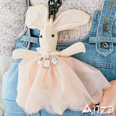【AnZa】童話風質感布偶小兔項鍊