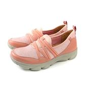 Kimo 懶人鞋 休閒鞋 女鞋 粉橘色 針織 KAISF054359 no837