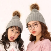 帽子—針織帽女秋冬百搭親子韓版日系母女毛線帽男女童可愛溫馨保暖毛球 korea時尚記