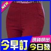 24hr  出貨新年 韓國糖果色鉛筆褲口袋九分褲刷毛內搭褲貼身窄管簡約騎士風