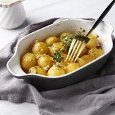 INMIND HOUSE烤碗 陶瓷創意雙耳烘焙餐具 歐式簡約意面焗飯盤子【onecity】