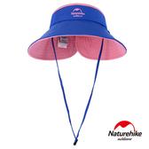 Naturehike 兩面可戴 雙色摺疊空頂遮陽帽 藍粉