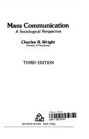 二手書博民逛書店《Mass Communication: A Sociological Perspective》 R2Y ISBN:0075544652