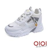 休閒鞋 美腿焦點反光內增高厚底鞋(白) *0101shoes【18-Q08w】【現+預】