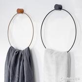 丹麥設計ins風格毛巾架舊木色鐵藝毛巾掛鉤衛生間鐵架子圍巾掛架 雙十二全館免運