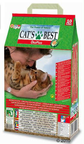 香桔士★【貓砂】德國凱優CAT'S BEST 環保木屑砂(紅標凝結型) 10L