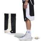 Adidas 男 黑 白 短褲 籃球褲 雙面穿 團體籃球褲 球褲 透氣 球衣 短褲 刺繡 運動褲 CD8675
