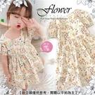 可愛小碎花透氣短袖洋裝(310541)【水娃娃時尚童裝】