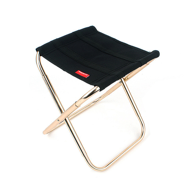 [7-11限今日299免運]戶外摺疊椅 休閒椅 釣魚椅 寫生椅 簡易折疊 鋁合金 (mina百貨)【H068】