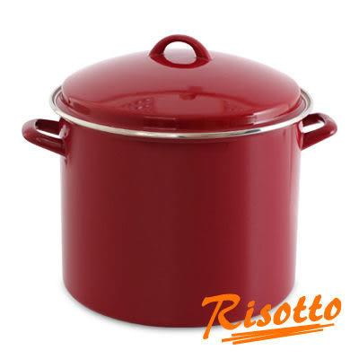 里和Riho RISOTTO 熱戀巴西紅 琺瑯雙耳湯鍋12L