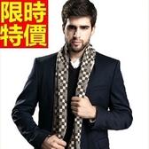 羊毛圍巾-拼色優質針織秋冬保暖厚款圍脖4色64t37【巴黎精品】