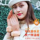 手套女士冬季保暖加絨可愛學生騎車用冬天防寒加厚韓版觸屏麂皮絨 店慶降價