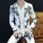 夏季 男士西服 修身 休閑 潮流 青少年學生 長袖 秋款西裝套裝