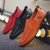 豆豆鞋 新款透氣豆豆鞋青年休閑懶人鞋男士潮鞋韓版英倫百搭男鞋皮鞋 勞動節