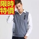 男針織 背心 明星同款韓風-保暖獨一無二焦點V領男上衣3色61d10【巴黎精品】