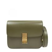 ■專櫃83折■ 全新真品■ Celine 頂級小牛皮 Teen Classic Box 包 軍綠色