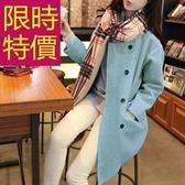 毛呢外套-簡單秋冬精緻氣質女風衣61n39[巴黎精品]