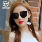 新款墨鏡女潮韓國時尚偏光太陽鏡圓臉太陽眼鏡眼睛     韓小姐