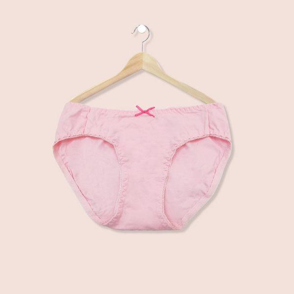 內褲 透氣舒適棉質低腰三角褲-粉-F-波曼妮亞