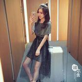 網紗裙 - 夏季韓版中長款顯瘦網紗連衣裙兩件套女半身裙時尚套裝裙子仙【韓衣舍】