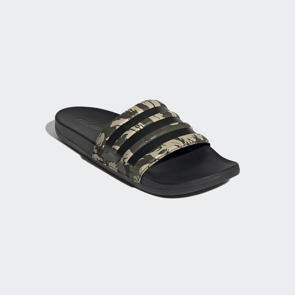 Adidas Adilette Comfort [FZ4686] 男鞋 運動 休閒 涼鞋 拖鞋 游泳 海灘 迷彩綠