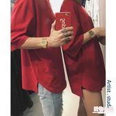 2019新款夏季t恤男士衣服短袖寬鬆上衣情侶裝韓版潮流半袖ulzzang【店慶8折】