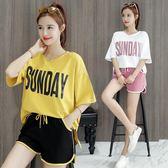 夏季韓版運動套裝女寬鬆休閑兩件套學生短袖T恤 JA2884『美鞋公社』
