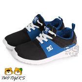 美國DC 黑/藍色 套入式 運動鞋 中大童 NO.R2165