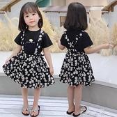 女童夏裝套裝裙子2020新款小童吊帶裙兒童夏季小雛菊女寶寶洋裝 米娜小鋪