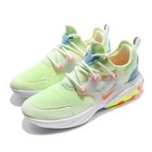 Nike 休閒慢跑鞋 React Presto GS 綠 橘 低筒 魚骨鞋 運動鞋 女鞋【ACS】 BQ4002-700