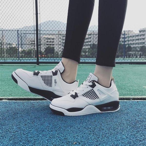韓國小清新百搭白鞋休閒運動鞋女學生氣墊鞋原宿跑步鞋板鞋學院風 10-18
