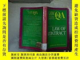 二手書博民逛書店LAW罕見OF CONTRACT 合同法Y261116