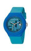 Reebok WarmUP Wallpaper時尚腕錶-藍綠x藍