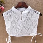 假領子假領片韓版  旗袍領蕾絲復古款百搭外套針織衫洋裝假兩件內搭白色 [E1153]預購.朵曼堤洋行