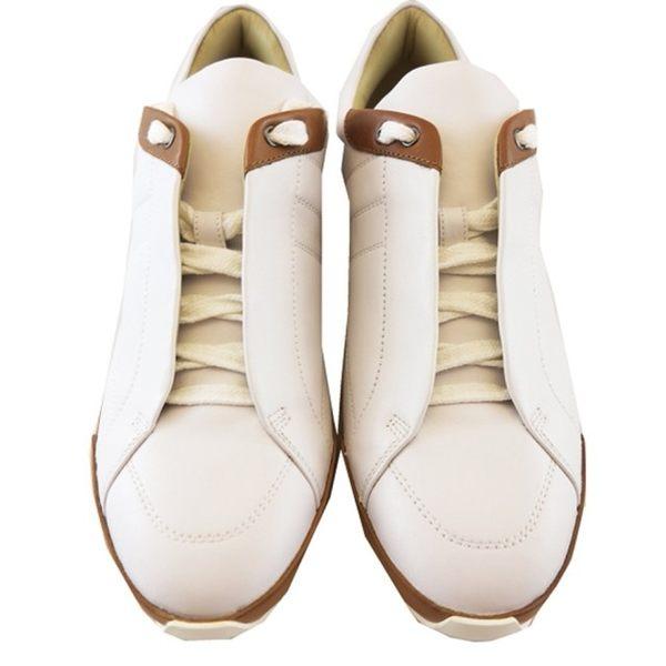 【HERMES】小牛皮 H logo 休閒鞋(白色) HE51150002