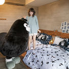 床包被套組 / 雙人加大【灰藍紳士款-掰啾的幽默】含兩件枕套  100%精梳棉  戀家小舖台灣製AAL312