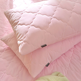 義大利La Belle《粉漾素色》涼感抑菌防水信封式保潔枕套二入-粉