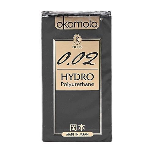 日本 okamoto 岡本 0.02 HYDRO衛生套(6入)『STYLISH MONITOR』保險套 D702319